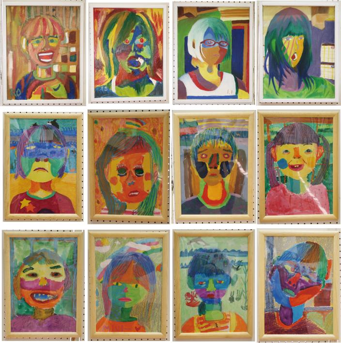 子供のアート展2012「自分の顔」2