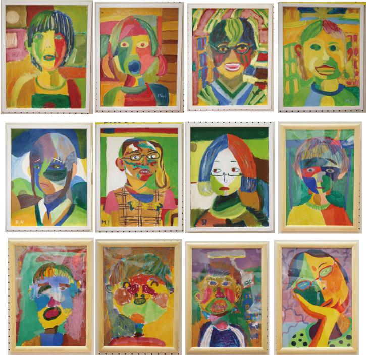 子供のアート展2012「自分の顔」3