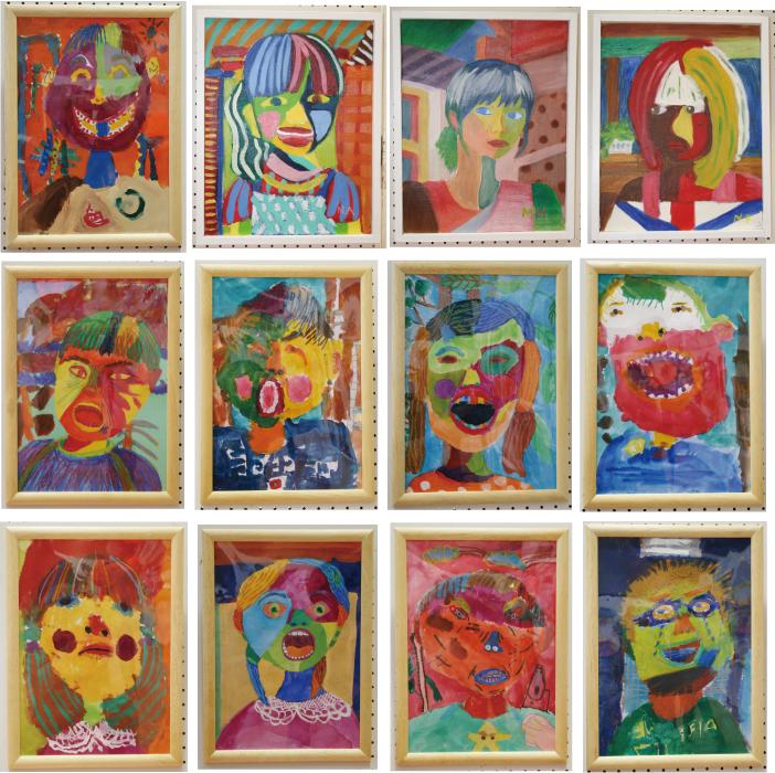 子供のアート展2012「自分の顔」4