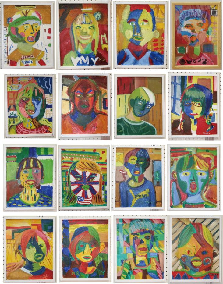 子供のアート展2012「自分の顔」5